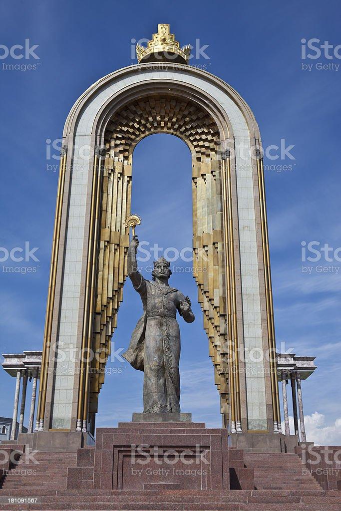 Monument of Amir Ismail Samani. Dushanbe stock photo