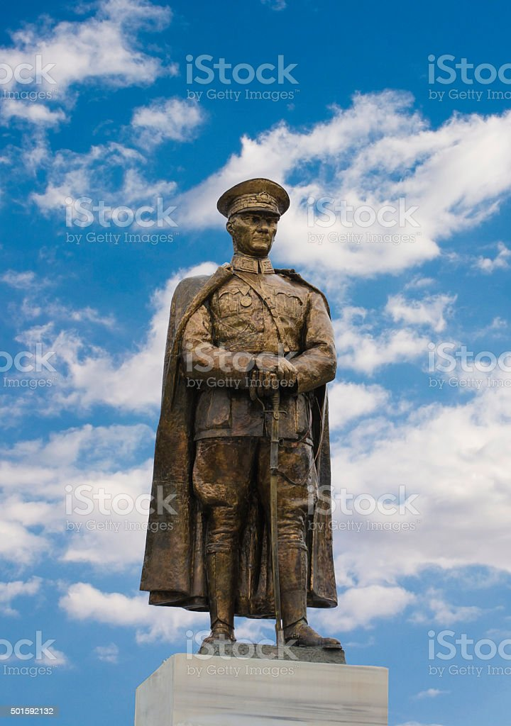 Monument of Ataturk in Adana, Turkey stock photo