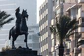 Monument of Ataturk on the horse in Izmir (Turkey)