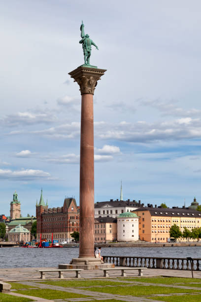 Monument of Engelbrekt in Stockholm stock photo
