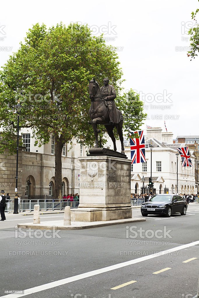 Monument of Field Marshal Earl Haig royalty-free stock photo