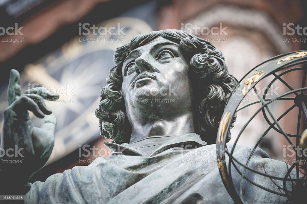 Monument of great astronomer Nicolaus Copernicus, Torun, Poland stock photo