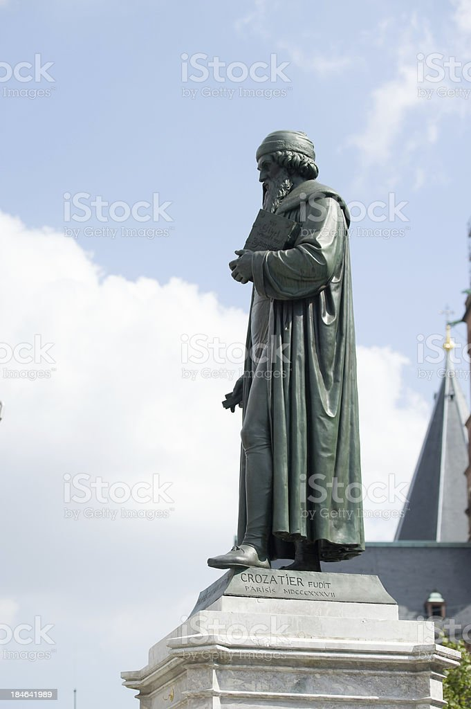 Monument of Gutenberg at Mainz, Germany royalty-free stock photo