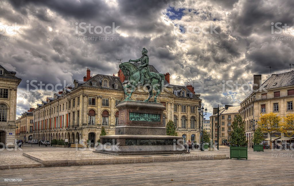 Monument of Jeanne d'Arc in Orleans, France stock photo