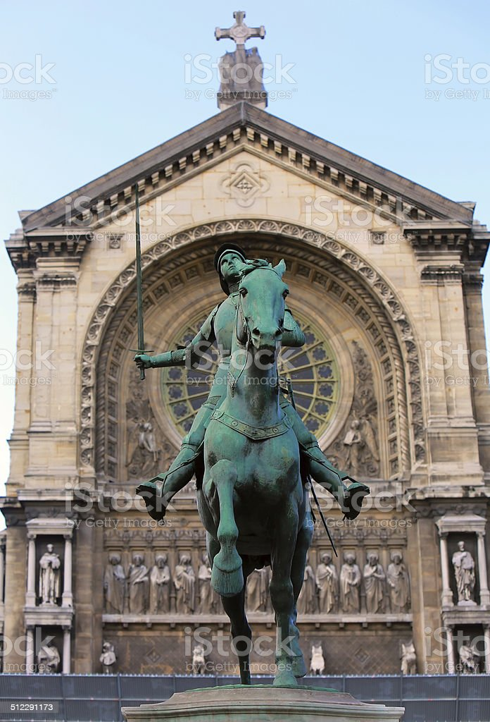 Monument of Jeanne d'Arc (Joan of Arc) stock photo