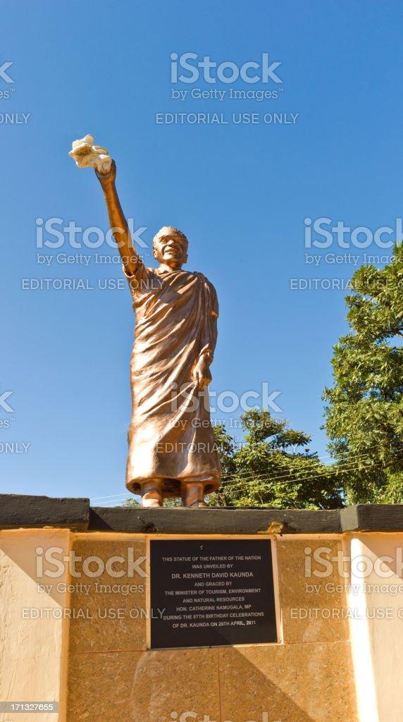 Monument of Kenneth Kaunda stock photo