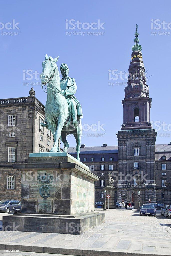 Monument of King Christian IX royalty-free stock photo