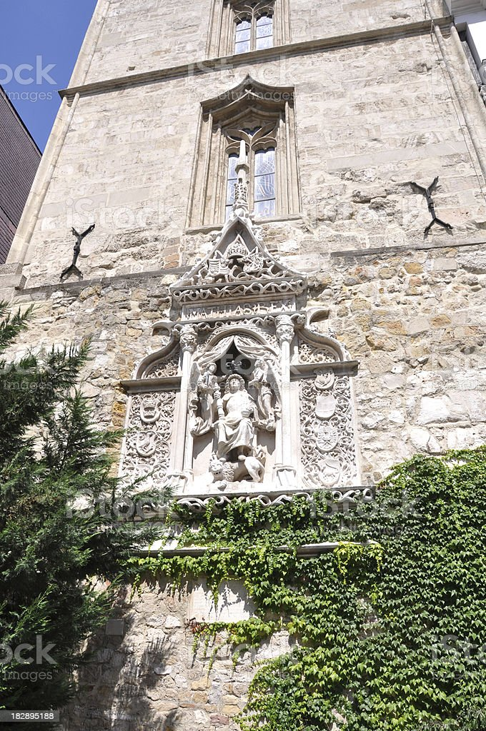 monument of King Matthias, Budapest, Hungary royalty-free stock photo
