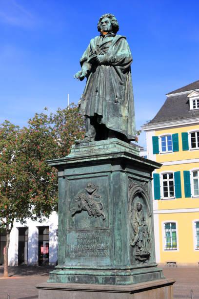 Monument of Ludwig van Beethoven. Bonn, Germany. stock photo