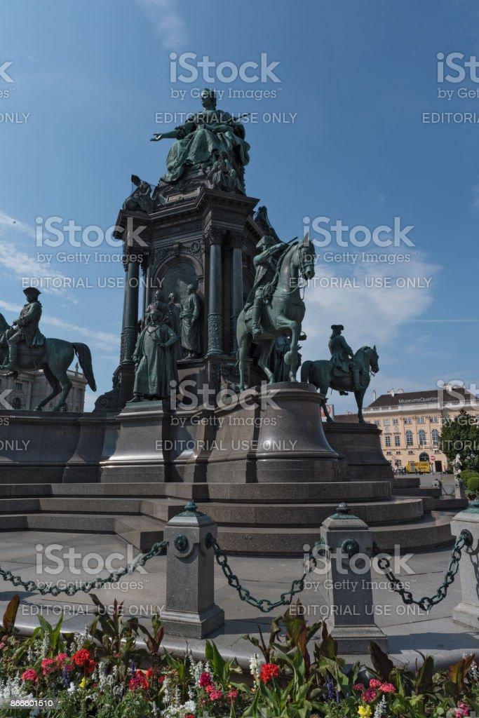 Monument of Maria Theresia in Vienna, Austria stock photo
