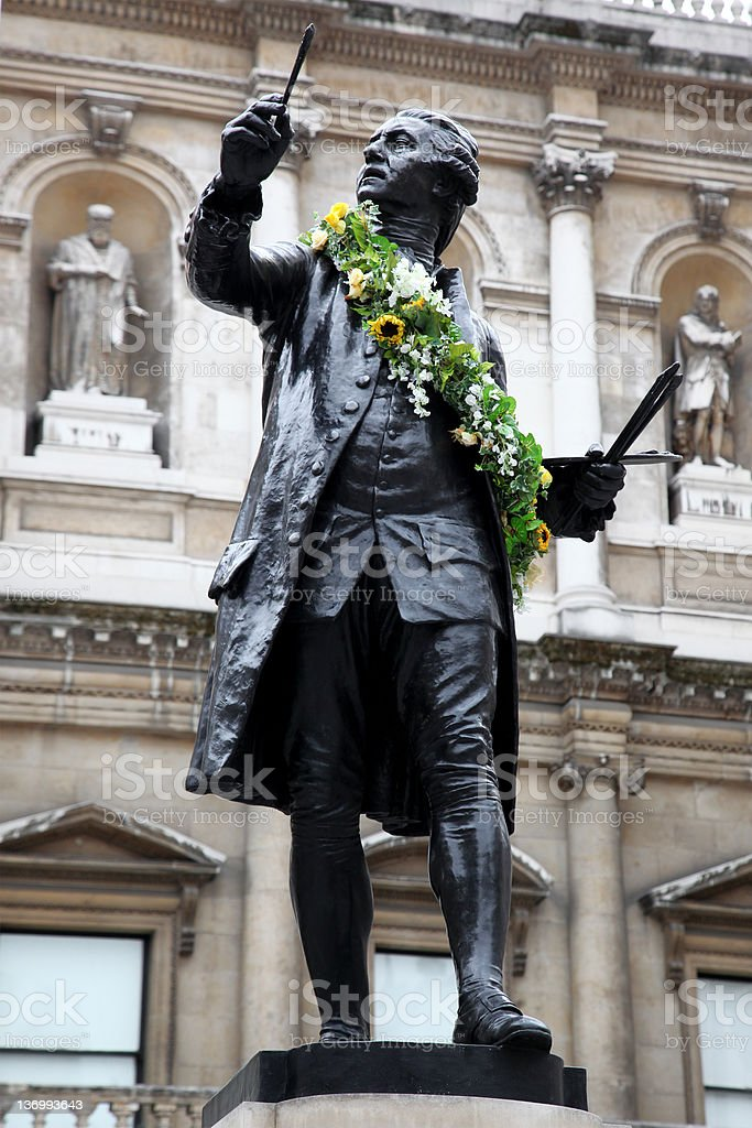Monument of Sir Joshua Reynolds stock photo