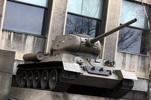 Monument of soviet tank