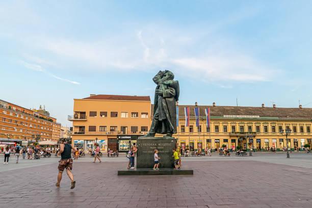 Monument of Svetozar Miletic. stock photo