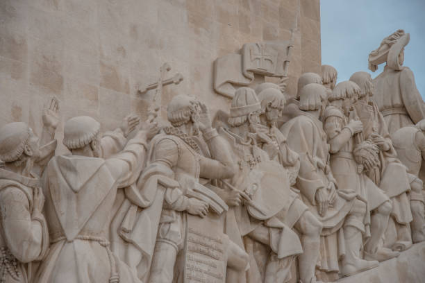 Monument of the Discoveries, Lisbon stock photo