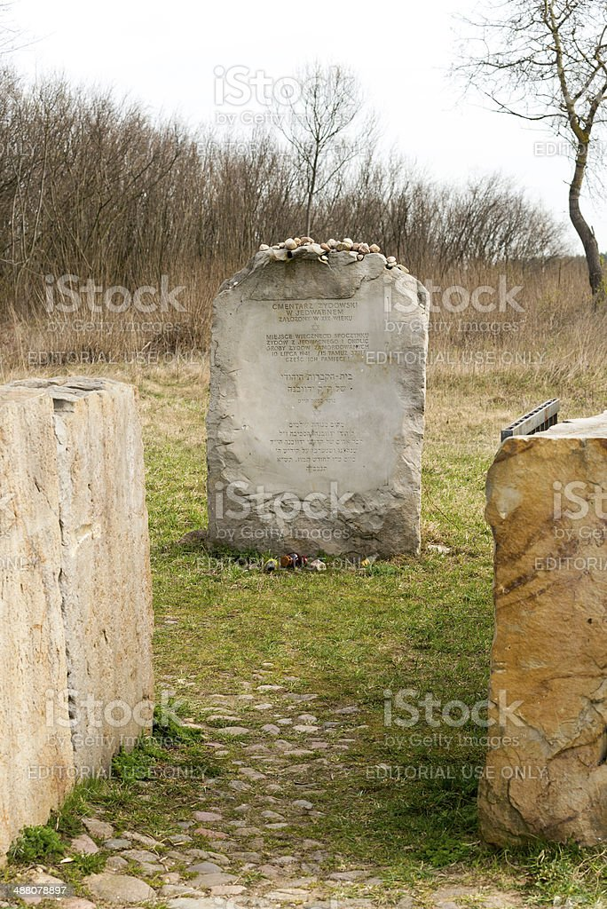 Monument of the Jewish pogrom in Jedwabne royalty-free stock photo