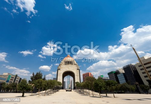 The Monument of the Revolution contains the remains of various revolutionary heroes and is one of the landmarkks of Mexico City.