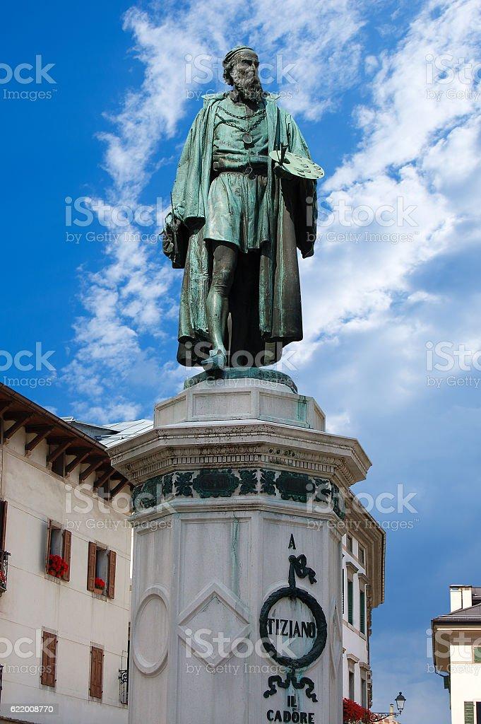 Monument of Tiziano Vecellio - Pieve di Cadore - foto stock