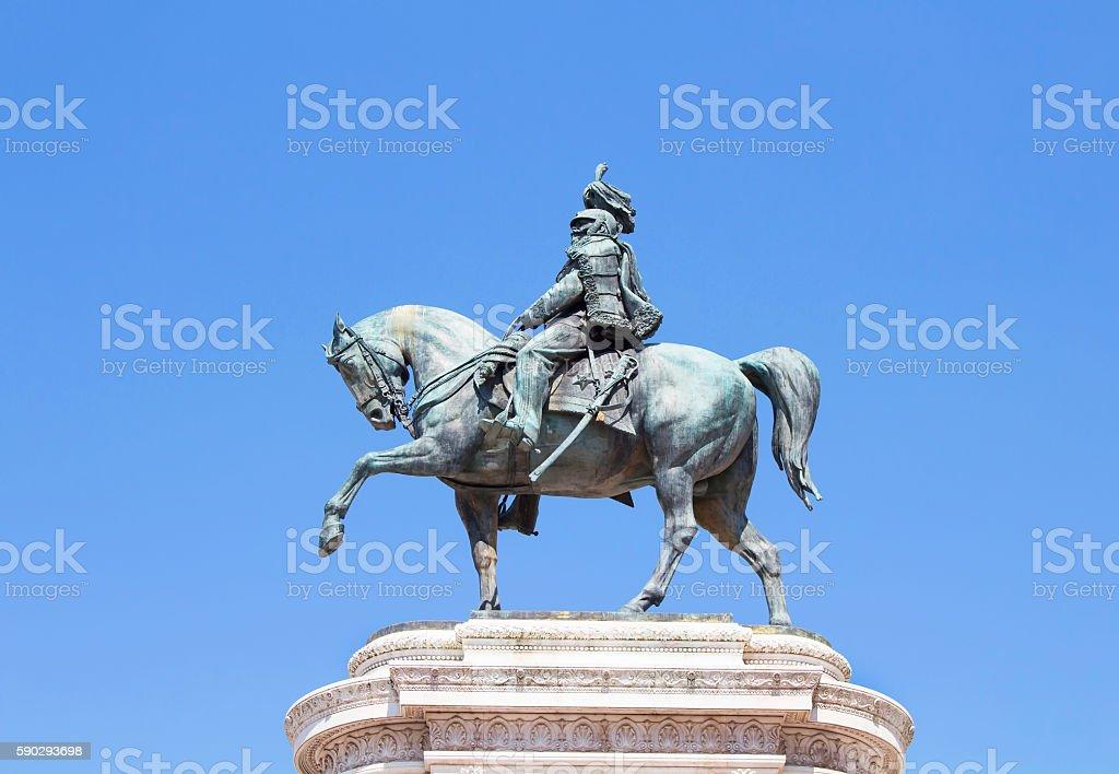 Monument of Victor Emmanuel II royaltyfri bildbanksbilder