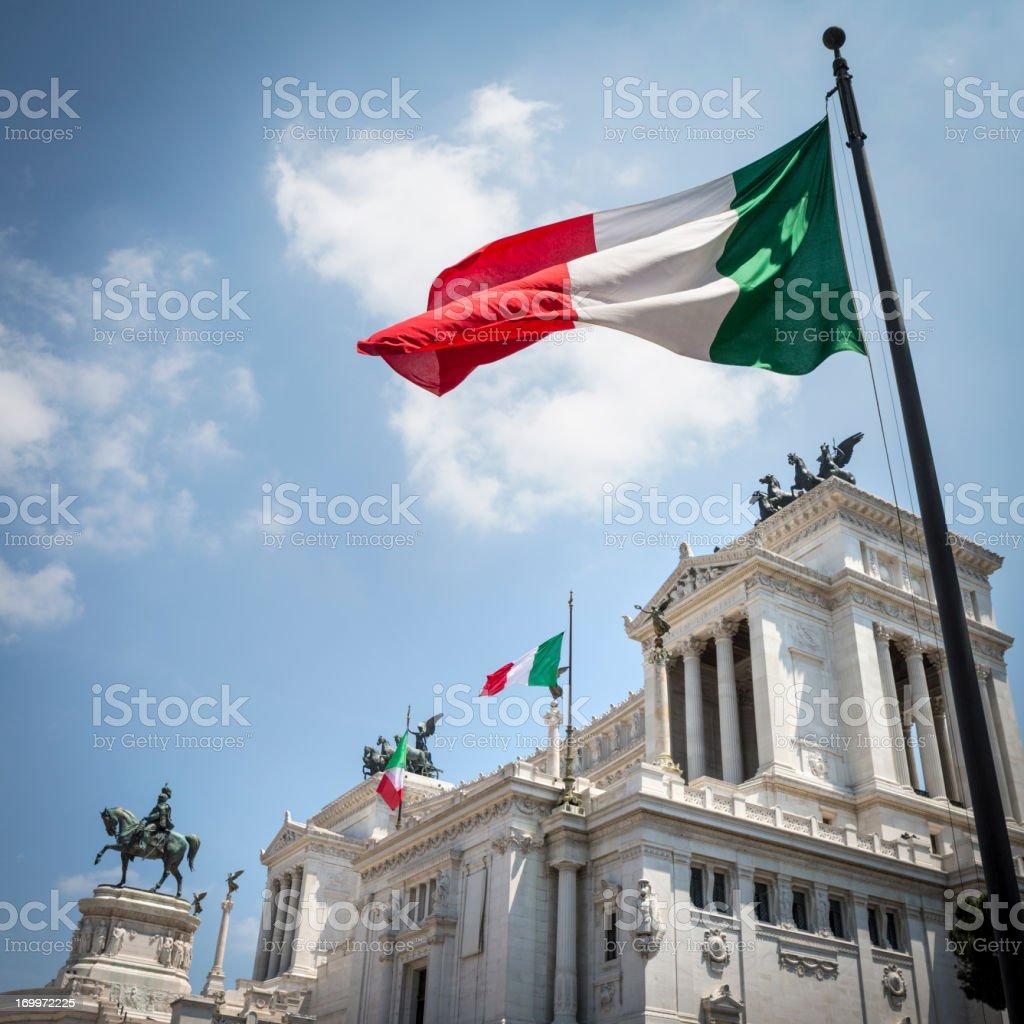 Monument of Vittorio Emanuele II in Rome, Italy stock photo