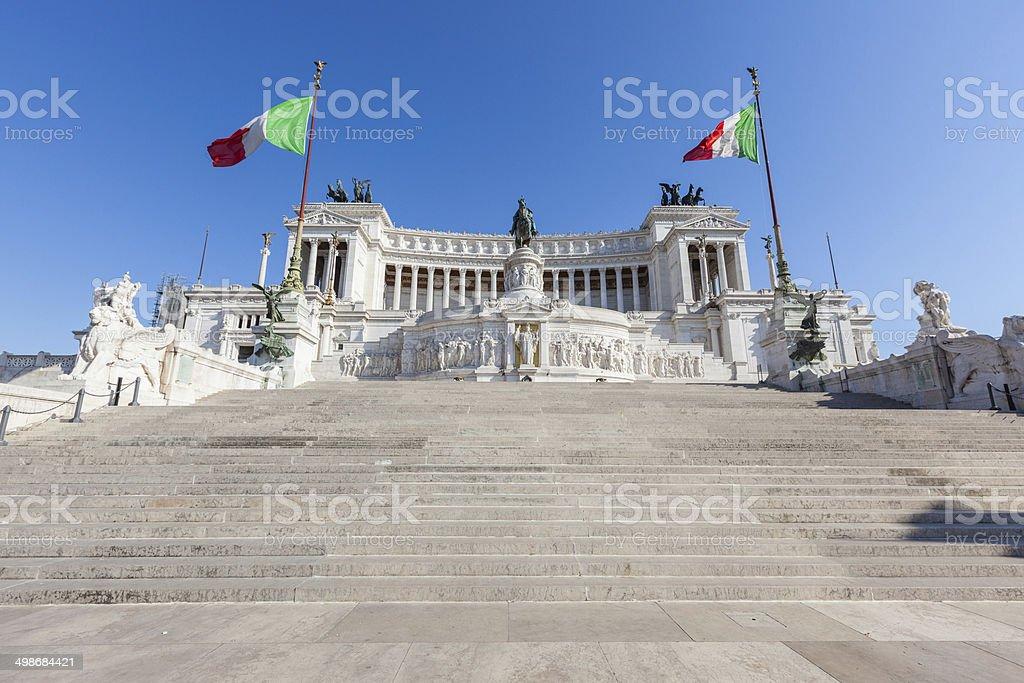 Monument of Vittorio Emanuele II in Rome stock photo