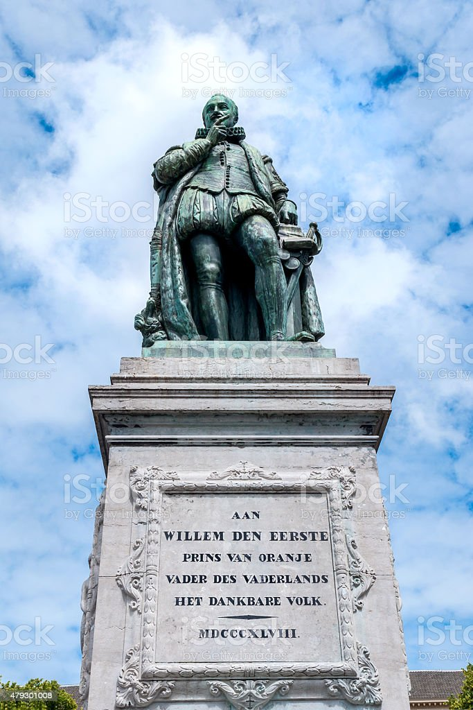 monument of William the First on Het Plein, The Hague stock photo