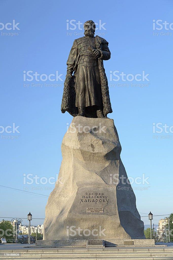 Denkmal der Yerofey Khabarov in Chabarowsk, Russland – Foto
