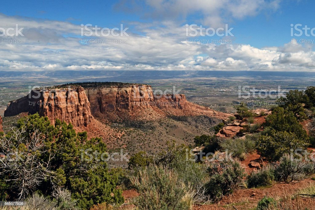 Monument Park Splendor in Colorado 免版稅 stock photo