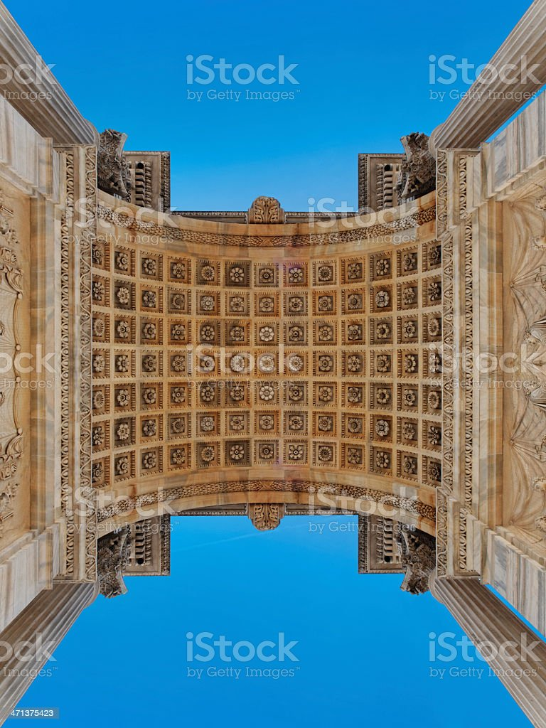 Monument Peace Arch Milan Sempione door royalty-free stock photo