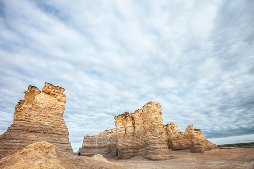 Monument Rocks Kansas Stock Photo - Download Image Now