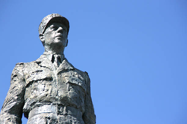 Monument sculpture of french president Charles de Gaulle, PARIS stock photo