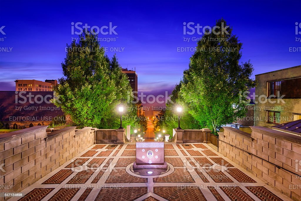 Monument Terrace in Lynchburg stock photo