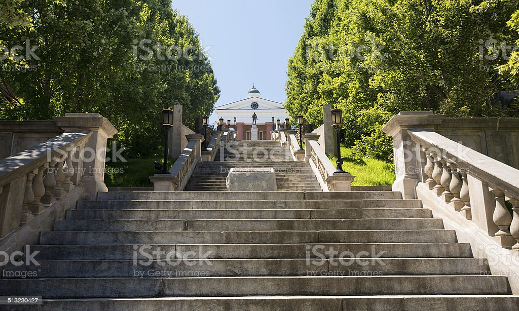 Monument Terrace in Lynchburg Virginia stock photo