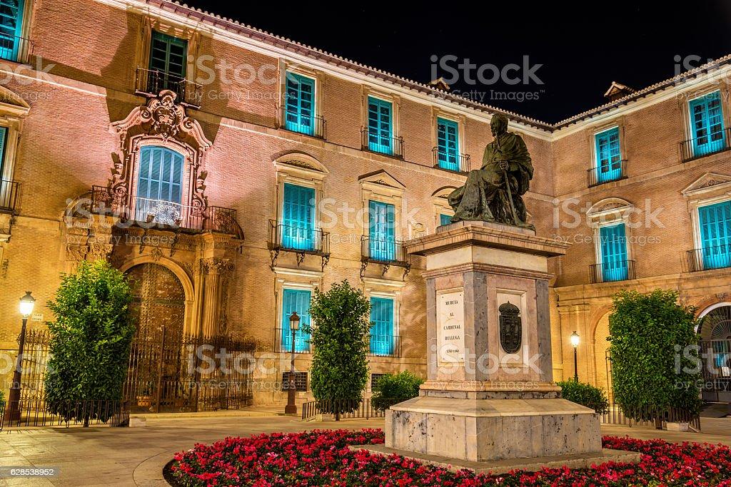 Monument to Cardinal Belluga in Murcia, Spain stock photo