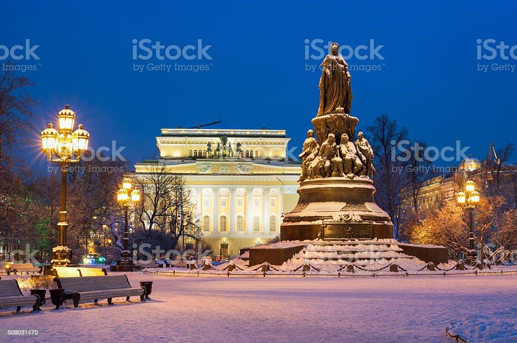 Monument to Catherine II stock photo