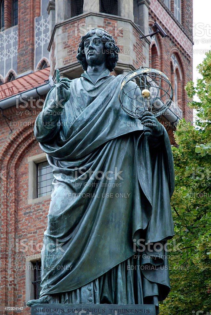 Monument to Copernicus of Torun - Poland stock photo