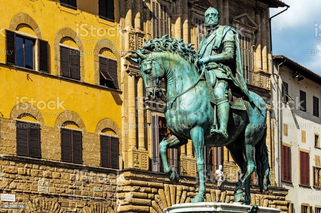 Monument to Cosimo di Giovanni de' Medici stock photo