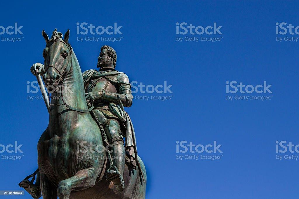 Monument to Grand Duke Ferdinando I in Florence stock photo
