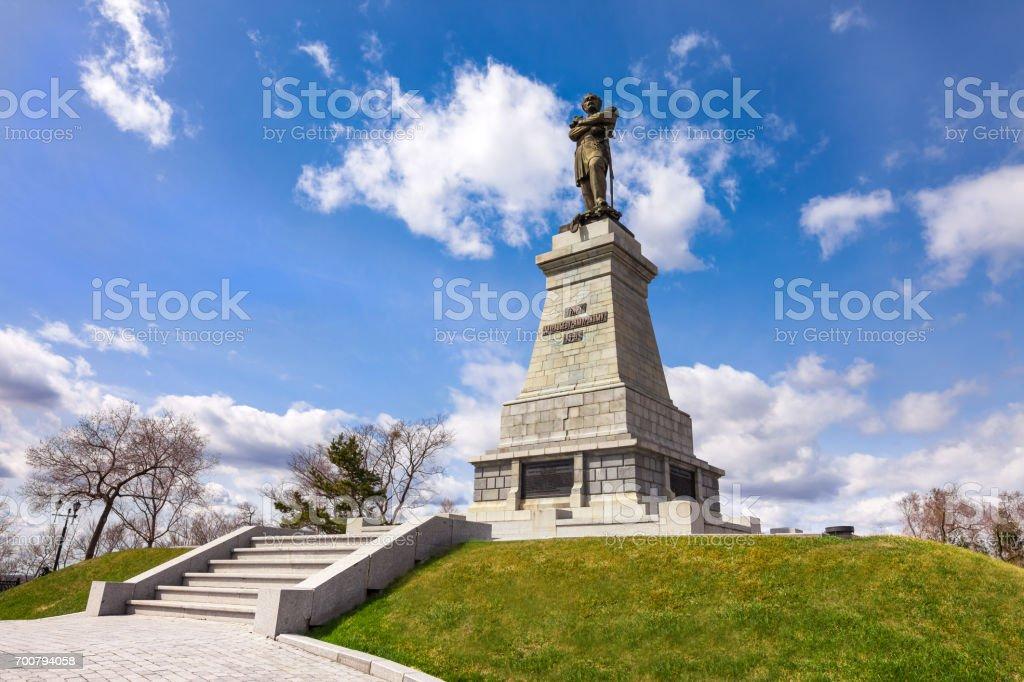 Denkmal für Graph verschlechterte-Amursky der Gründer von Khabarovsk – Foto