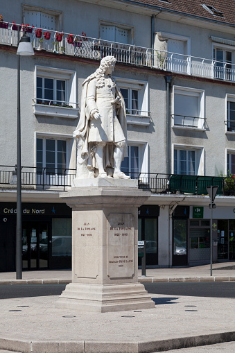 Monument To Jean De La Fontaine In Châteauthierry Stock Photo - Download Image Now