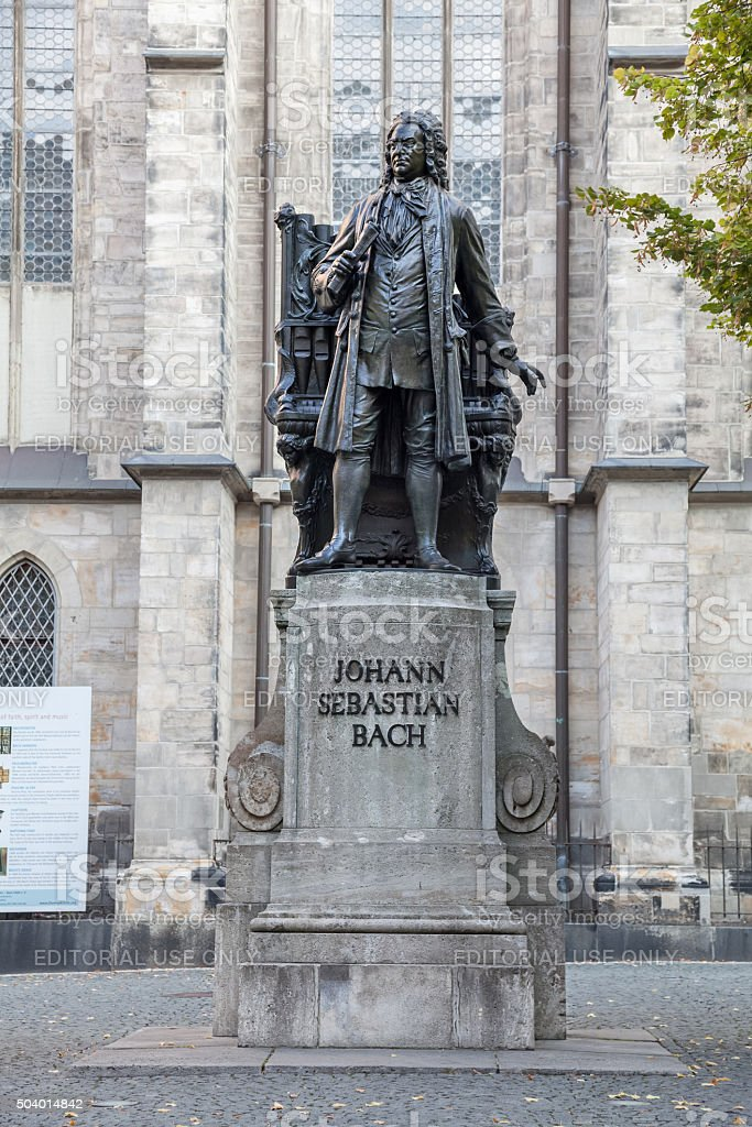 Monument to Johann Sebastian Bach in Leipzig stock photo