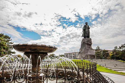 Monument to Khabarov the founder of Khabarovsk