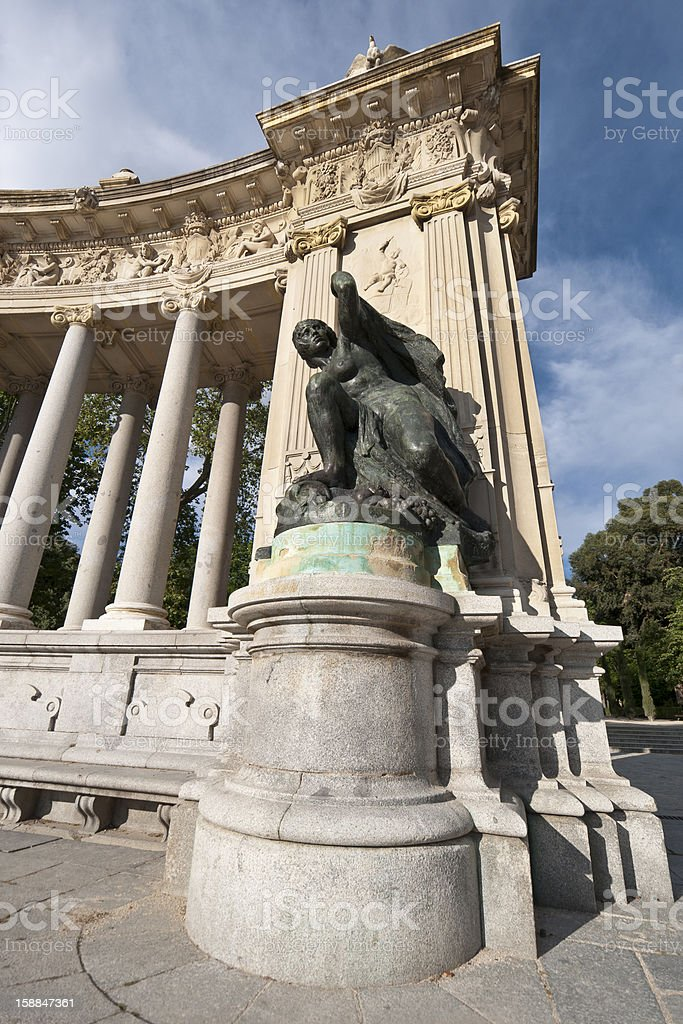 Monument to King Alfonso XII royalty-free stock photo