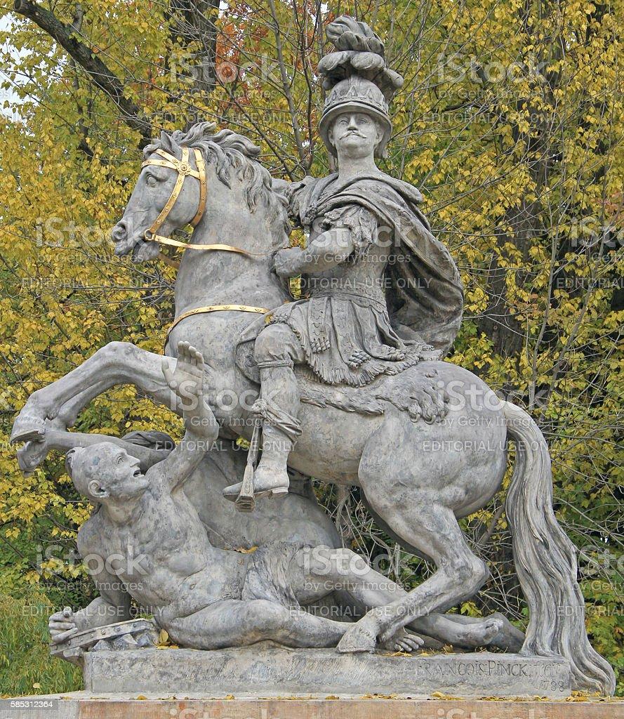 monument to King John III in Lazienki Park, Warsaw stock photo