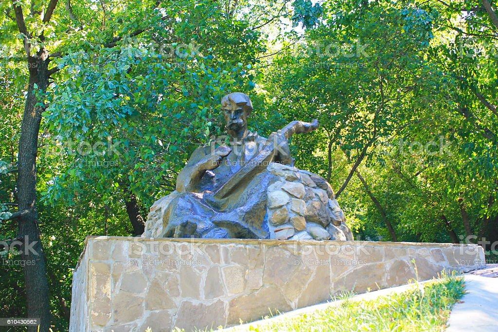 Monument to kobzar in Chigirin стоковое фото