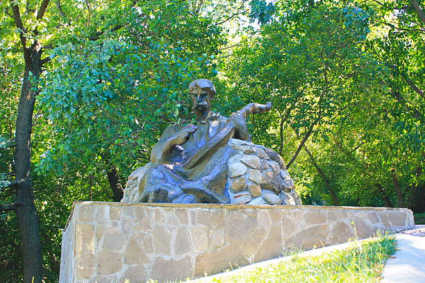 Cтоковое фото Monument to kobzar in Chigirin