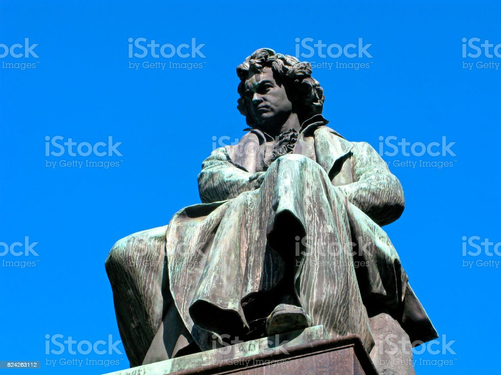 Monument to Ludwig van Beethoven stock photo