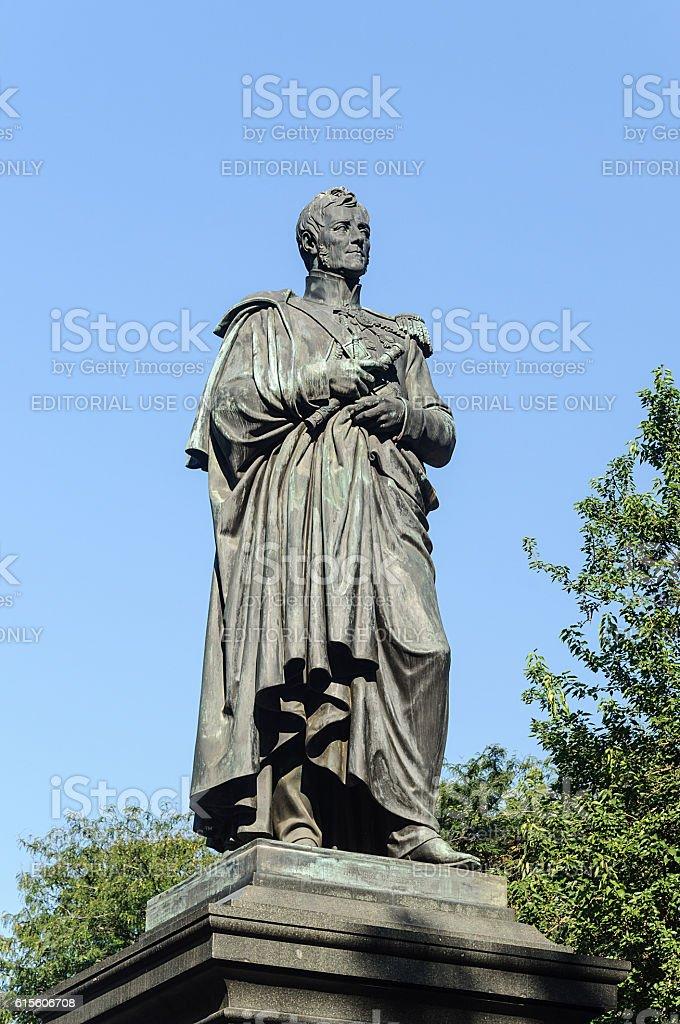 Monument to Mikhail Vorontsov in Odessa stock photo