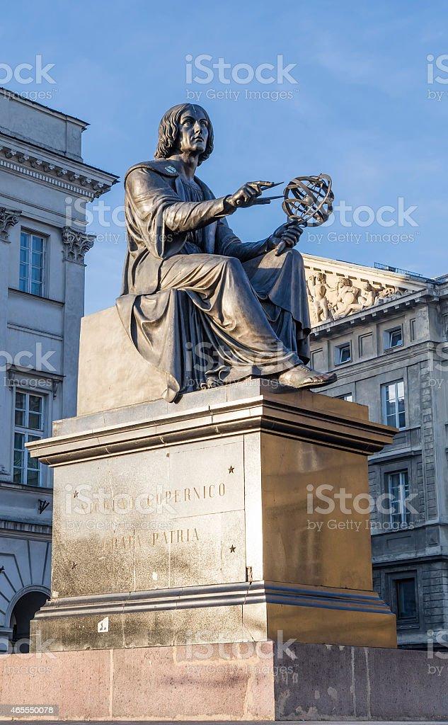 Monument to Nicholas Copernicus stock photo
