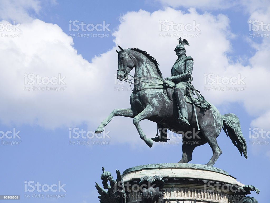 Monument to Nikolay First royalty-free stock photo