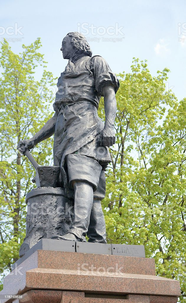 Monument to Peter the Great by Robert Bach in Tula royalty-free stock photo
